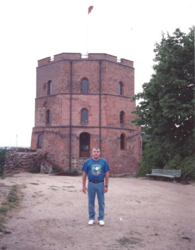 בביקור ראשון בליטא העצמאית - צילום ממצודת וילנה בלב המרכז ההיסטורי