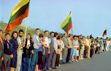 ליטאים עם דגלי ליטא